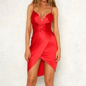 Red Party People Dress